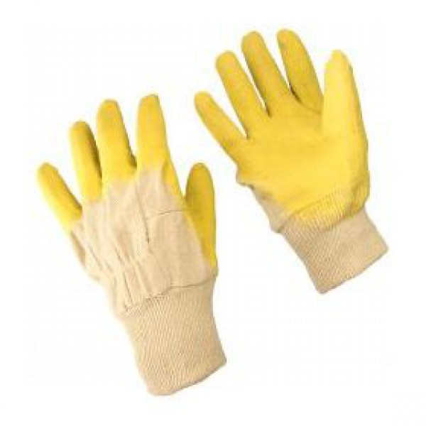 В основе перчаток - круговая вязка из трикотажной х/б нити. . Хлопчатобума